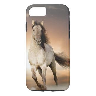 Wild Stallion Running In Sunset iPhone 7 Case