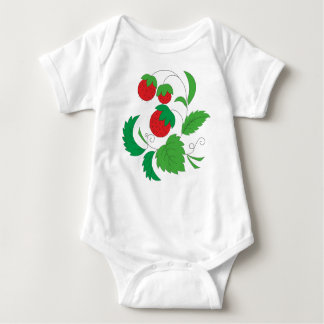 Wild strawberries baby bodysuit