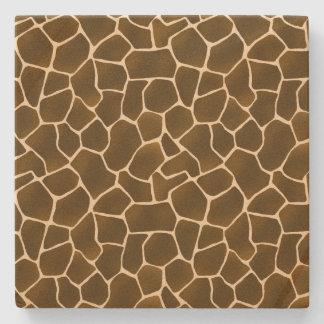 Wild Style Giraffe Spots Safari Animal Print Stone Beverage Coaster