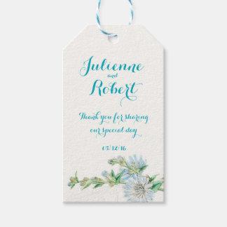 "Wild succory vintage wedding ""Thank You"" favour"