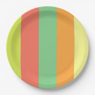 Wild Summer Stripes Paper Plate