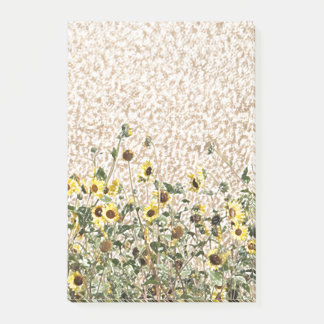 Wild Sunflowers by the Roadside Post-it Notes