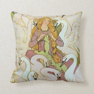 Wild Swans Eleanor Abbott Fine Art Cushion