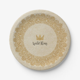 Wild Thing Crown Paper Plate