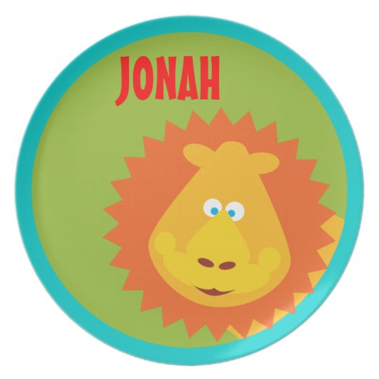 Wild Thing Lion Kids Safari Custom Plate