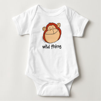 Wild thing-monkey baby one-piece by dinky designs baby bodysuit