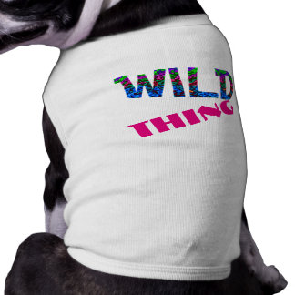 Wild Thing Multi-colored Funny Dog Bone Shirt