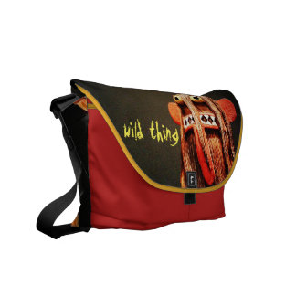 """""""Wild Thing"""" Quote Cute Funny Silly Face Photo Courier Bag"""