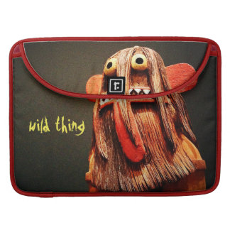 """""""Wild Thing"""" Quote Cute Funny Silly Face Photo Sleeve For MacBook Pro"""