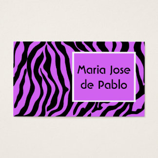 Wild Thing Zebra Print Business Cards