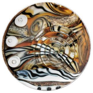 Wild tiger, animal, africa, safari, photography porcelain plate