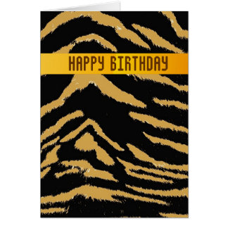 Wild Tiger Birthday Card