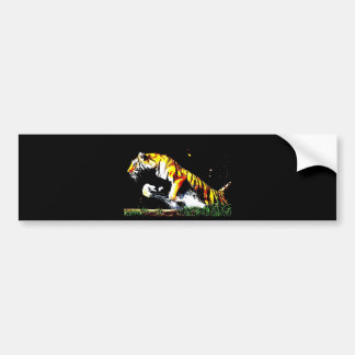 Wild Tiger Bumper Sticker