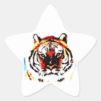 Wild Tiger Star Sticker