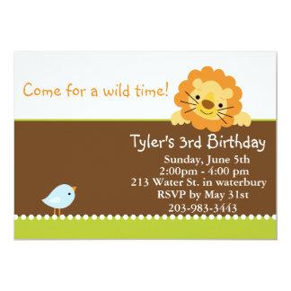 Wild time 13 cm x 18 cm invitation card