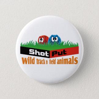 wild track and field animals 6 cm round badge