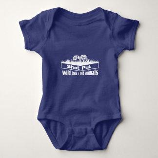 wild track and field animals baby bodysuit
