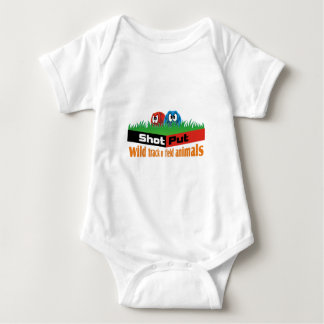 Wild track and field animals baby bodysuit
