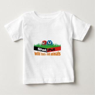 Wild track and field animals baby T-Shirt