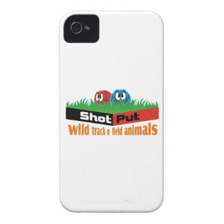 Wild track and field animals Case-Mate iPhone 4 case