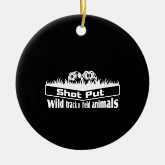 wild track and field animals ceramic ornament