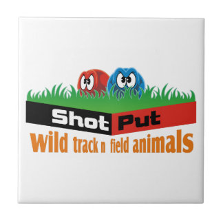 Wild track and field animals ceramic tile