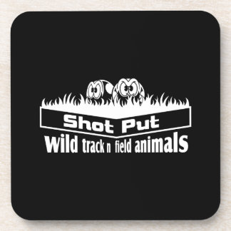 wild track and field animals coaster