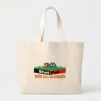Wild track and field animals large tote bag