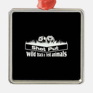 wild track and field animals metal ornament
