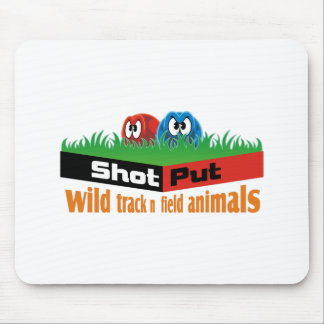 Wild track and field animals mouse pad