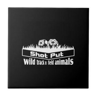 wild track and field animals tile
