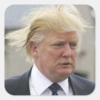 Wild Trump Hair Square Sticker
