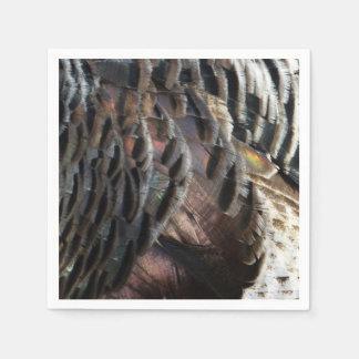 Wild Turkey Feathers I Abstract Nature Design Disposable Serviette