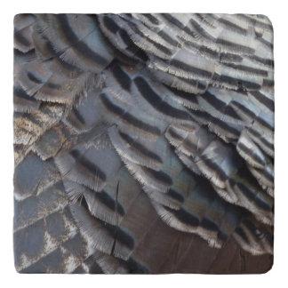 Wild Turkey Feathers II Abstract Nature Design Trivet