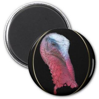 Wild Turkey Head 6 Cm Round Magnet