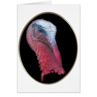 Wild Turkey Head Greeting Card