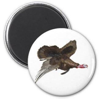 Wild Turkey Hunting 6 Cm Round Magnet