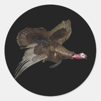 Wild Turkey Hunting Round Sticker