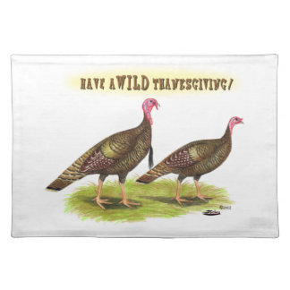 Wild Turkey Thanksgiving Placemat