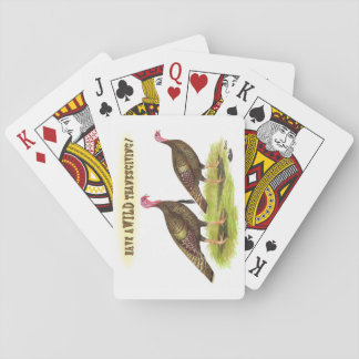 Wild Turkey Thanksgiving Playing Cards
