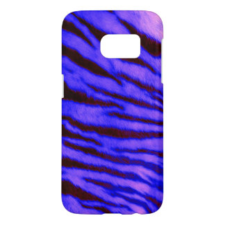 Wild & Vibrant Blue Tiger Stripes