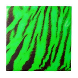 Wild & Vibrant Green Tiger Stripes Tile