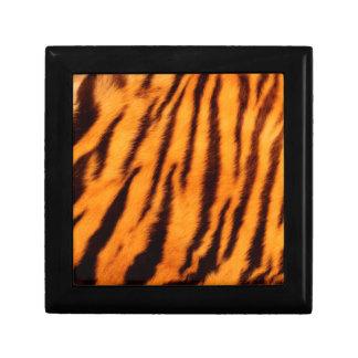 Wild & Vibrant Orange Tiger Stripes Small Square Gift Box