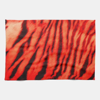 Wild & Vibrant Red Tiger Stripes Tea Towel