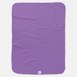 Wild Violet Petals Receiving Blankets