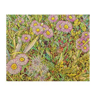 Wild Violet Petals Wood Prints