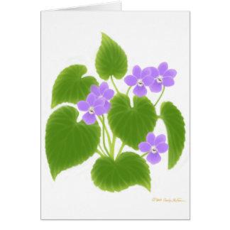 Wild Violets Card