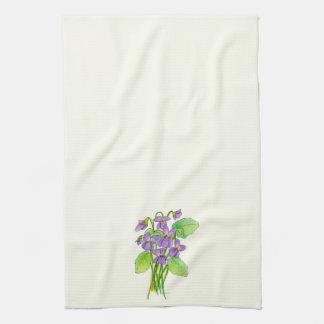 Wild Violets Kitchen Towel