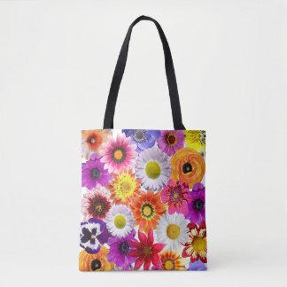 Wild Vivid Floral Blooms Flowers Tote Bag
