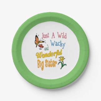 Wild Wacky Wonderful Big Sister Gifts 7 Inch Paper Plate